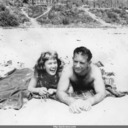 Jack and Norma at beach in Southern California.